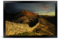 Sunrise over high pike, Framed Print