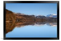 Coniston winter reflection, Framed Print