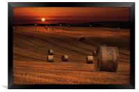 Harvest sunset, Framed Print