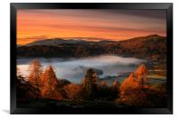Grasmere mists, Framed Print