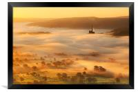 Golden mists over castleton, Framed Print
