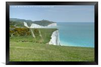 The Seven Sisters Cliffs Sussex., Framed Print
