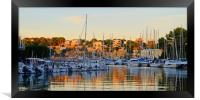 Evening in Porto Cristo Harbour, Framed Print