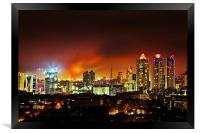 Fire in the hold Bandra Bombay, Framed Print
