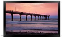 New Zealand Sunset Pier, Framed Print