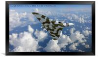 HIGH FLYING AVRO VULCAN  XH558      , Framed Print