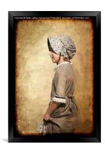 Pioneer Girl, Framed Print