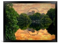 St James Park London, Framed Print