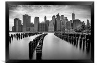 Gotham City New York City, Framed Print
