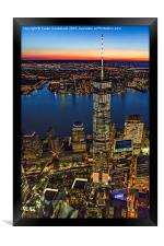 World Trade Center WTC From High Above, Framed Print
