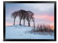The Mellowing Freeze, Framed Print