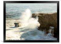 The Explosion and The Waterfall, Framed Print