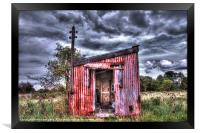 The Red Shed, Framed Print
