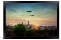 Lancaster Flyby Lincoln Cathedral, Framed Print