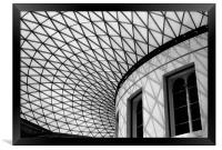 Roof of British Museum, Framed Print