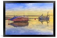 Boats in the morning, Framed Print