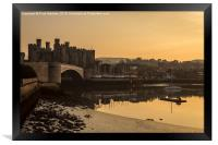 Conwy Castle and harbour, Framed Print