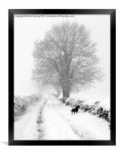 Winter Lane, Framed Print