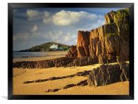 UK,Devon,Bigbury On Sea & Burgh Island, Framed Print