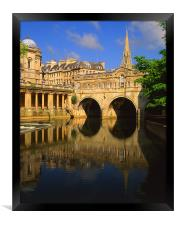 Pulteney Bridge & River Avon in Bath, Framed Print