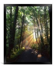 Light Rays through Castleton Lane,Peak District, Framed Print
