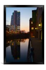 Bridgewater Place & River Aire, Leeds, Framed Print