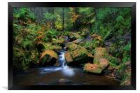 Wyming Brook with Autumn Colours, Framed Print