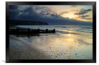 Swanage Bay Sunrise, Framed Print