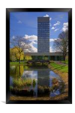 University Arts Tower & Weston Park Pond, Framed Print