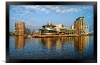 Salford Quays Reflections, Framed Print