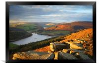 Ladybower from Bamford Edge , Framed Print