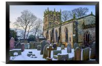 St Edmunds Church, Castleton in Winter, Framed Print