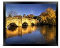 Bakewell Bridge and River Wye , Framed Print
