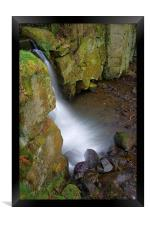 Looking Down Lumsdale Falls , Framed Print