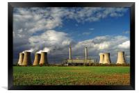 Stormy Skies over West Burton Power Stations, Framed Print