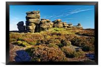 Wheel Stones, Derwent Edge, Peak District, Framed Print
