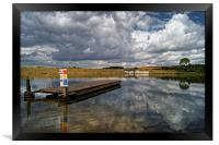 Ulley Jetty and Storm Clouds , Framed Print