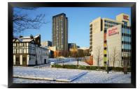 Hallam University and City Centre from Pond Street, Framed Print