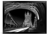 Tower Bridge London at Night , Framed Print