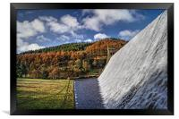 Derwent Dam in Autumn, Framed Print