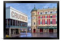 Crucible & Lyceum Theatres, Sheffield , Framed Print