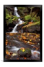 Lumsdale Falls in Autumn, Framed Print