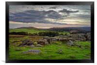 Hound Tor Sunset                               , Framed Print