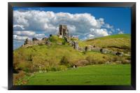 Corfe Castle                       , Framed Print