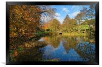 Bentley Brook Pond In Autumn                    , Framed Print