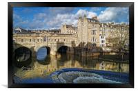 Pulteney Bridge & River Avon in Bath              , Framed Print