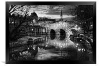 Pulteney Bridge and River Avon in Bath            , Framed Print