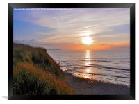 SUNSET AT KILVE BEACH SOMERSET, Framed Print