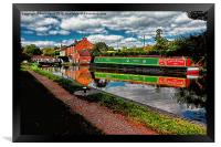 Reflections and Braunston Lock No3, Framed Print