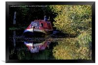 Anyone for coal on the oxford canal, Framed Print